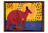 Woodblock Kangaroo