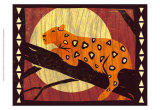 Woodblock Leopard