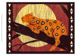 Woodblock Leopard