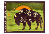 Woodblock Bison