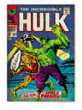 Marvel Comics Retro: The Incredible Hulk Comic Book Cover 103  with the Space Parasite (aged)