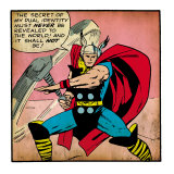 Marvel Comics Retro: Mighty Thor Comic Panel (aged)