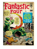 Marvel Comics Retro: Fantastic Four Family Comic Book Cover 1 (aged)