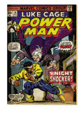 Marvel Comics Retro: Luke Cage  Hero for Hire Comic Book Cover No26  the Night Shocker! (aged)