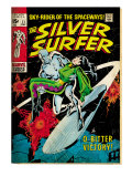 Marvel Comics Retro: Silver Surfer Comic Book Cover No11  Bitter Victory (aged)