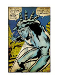 Marvel Comics Retro: Silver Surfer Comic Panel (aged)