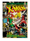 Marvel Comics Retro: The X-Men Comic Book Cover 105  Phoenix  Colossus  Storm  Firelord (aged)