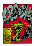 Marvel Comics Retro: The Incredible Hulk Comic Panel  Rage and Crash (aged)