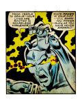 Marvel Comics Retro: Silver Surfer Comic Panel  Unleashing Power (aged)