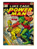 Marvel Comics Retro: Luke Cage  Power Man Comic Book Cover No29  Fighting Mr Fish (aged)