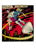 Marvel Comics Retro: Silver Surfer Comic Panel  Saving the girl (aged)