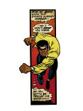 Marvel Comics Retro: Luke Cage  Hero for Hire Comic Panel  Charging (aged)