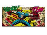 Marvel Comics Retro: Captain America Comic Panel  Fighting  Phase 1  So Far So Good! (aged)