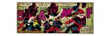 Marvel Comics Retro: X-Men Comic Panel  Nightcrawler (aged)