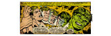 Marvel Comics Retro: The Incredible Hulk Comic Panel  Bruce Banner Transforming (aged)