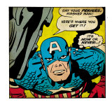 Marvel Comics Retro: Captain America Comic Panel  Villain Monologue  Say your Prayers (aged)