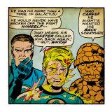 Marvel Comics Retro: Fantastic Four Comic Panel  Mr Fantastic  Invisible Woman  Thing (aged)