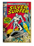Marvel Comics Retro: Silver Surfer Comic Book Cover No17 (aged)