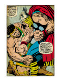 Marvel Comics Retro: Mighty Thor Comic Panel  Hercules (aged)