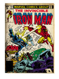 Marvel Comics Retro: The Invincible Iron Man Comic Book Cover 124  Action in Atlantic City (aged)