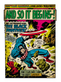 Marvel Comics Retro: Captain America Comic Panel  And So It Begins! (aged)