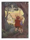 Illustration From Hansel And Gretel Of Children Seeing House