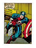 Marvel Comics Retro: Captain America Comic Panel  US naval Hospital (aged)