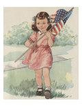 Jane Holds The Flag