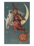 Witch On A Pumpkin