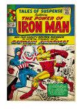Marvel Comics Retro: The Invincible Iron Man Comic Book Cover No58  Facing Captain America (aged)