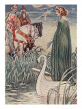 King Arthur Asks The Lady Of The Lake For The Sword Excalibur