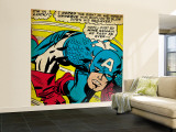 Marvel Comics Retro: Captain America Comic Panel  Monologue  I'm in Luck! (aged)
