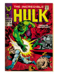 Marvel Comics Retro: The Incredible Hulk Comic Book Cover 108  with Nick Fury (aged)