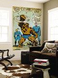 Marvel Comics Retro: Fantastic Four Comic Panel  Thing  Mr Fantastic  Human Torch (aged)