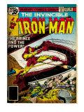 Marvel Comics Retro: The Invincible Iron Man Comic Book Cover No121; Fighting Namor (aged)