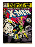 Marvel Comics Retro: The X-Men Comic Book Cover No137  Phoenix  Colossus (aged)