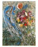 Les Amoureux en Gris, c.1960 Reproduction d'art par Marc Chagall
