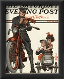 Motorcycle Cop and Kids  c1922