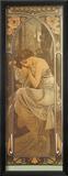 Repos de la Nuit Reproduction giclée encadrée par Alphonse Mucha