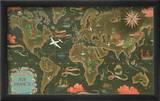 Air France: Flight Routes And Illustrated World Map  c1948