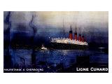 Cunard Line  Mauretania to Cherbourg