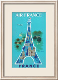 Air France: Eiffel Tower and Paris Monuments  c1952