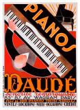 Pianos Daudé Giclée par Andre Daude