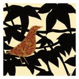 Ornate Bird on Black Branch