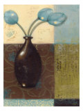 Ebony Vase with Blue Tulips II