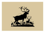 Elk Silhouette V
