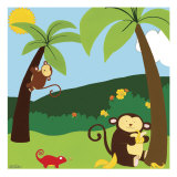 Jungle Jamboree II Reproduction d'art par Erica J. Vess