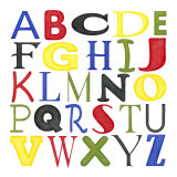 Kid's Room Letters Reproduction d'art par Megan Meagher