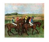 Jockeys at Training Reproduction pour collectionneurs par Edgar Degas