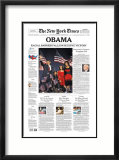 New York Times  Nov 5  2008: OBAMA  Racial Barrier Falls in Decisive Victory